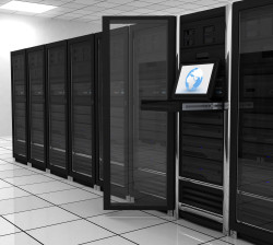 presentation server-room of the server on earth
